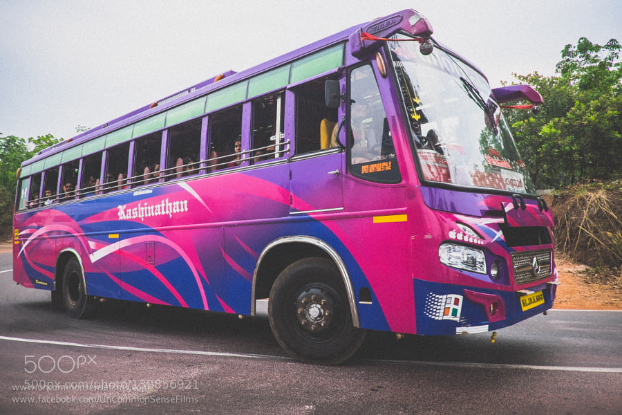 Buses of Kannur Speeding colourful :))