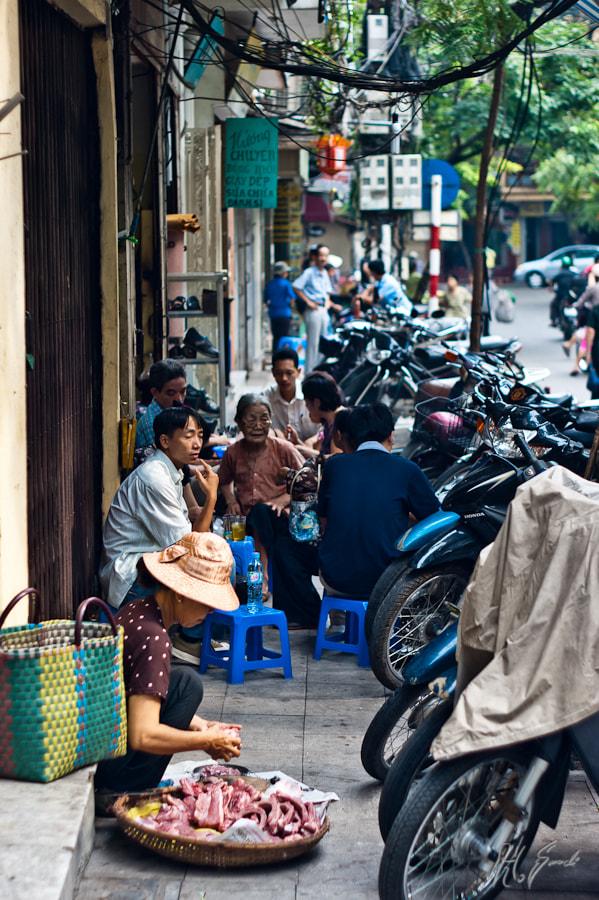 Hanoi street vendors..