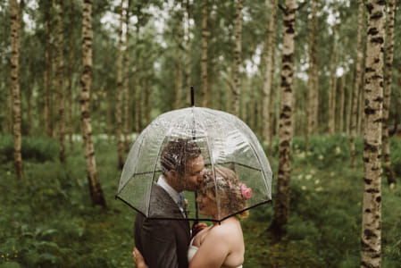Green raining wedding portrait by The Stillery x Natta Summerky on 500px