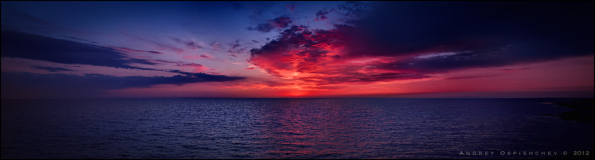 Photograph Sea sunset by Andrey  Ospishchev on 500px