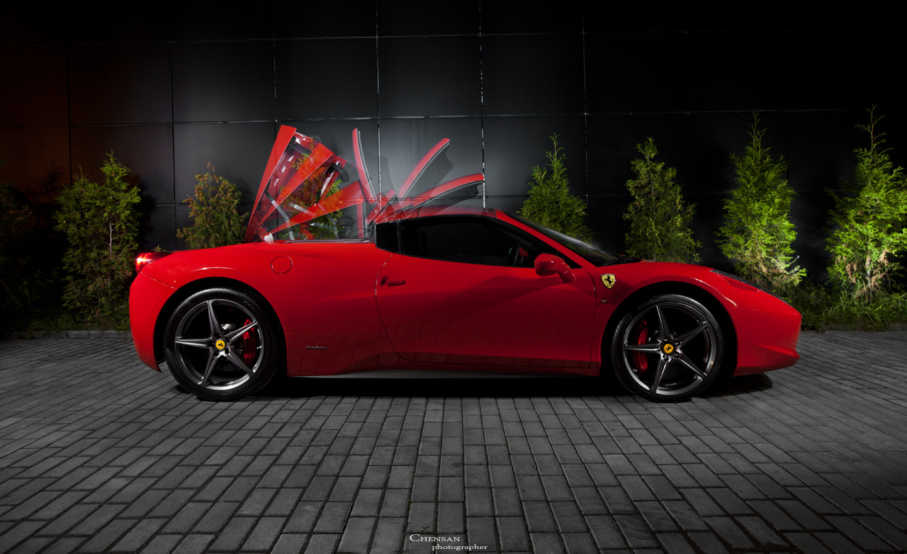 Photograph Perfect Design ( Ferrari 458 Italia ,spider ) by Chensan by  Chensan on 500px