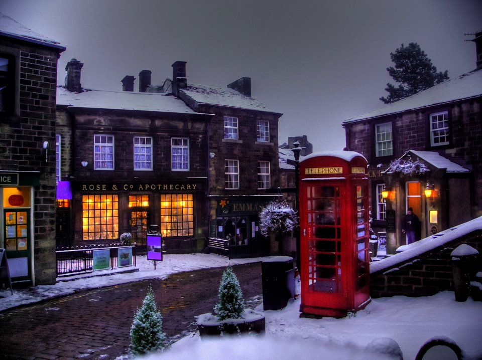 Photograph Snow on Haworth Main Street. 2011 by Garry Atkinson on 500px