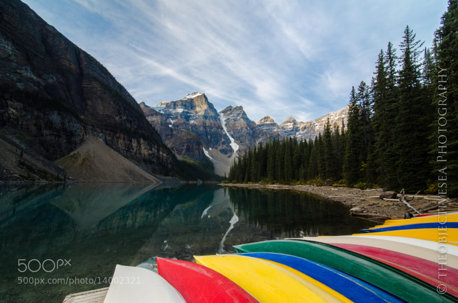 Photograph Canoes at Moraine II by Kevin Smith on 500px