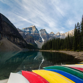 Canoes at Moraine II by Kevin Smith (theobjectivesea)) on 500px.com