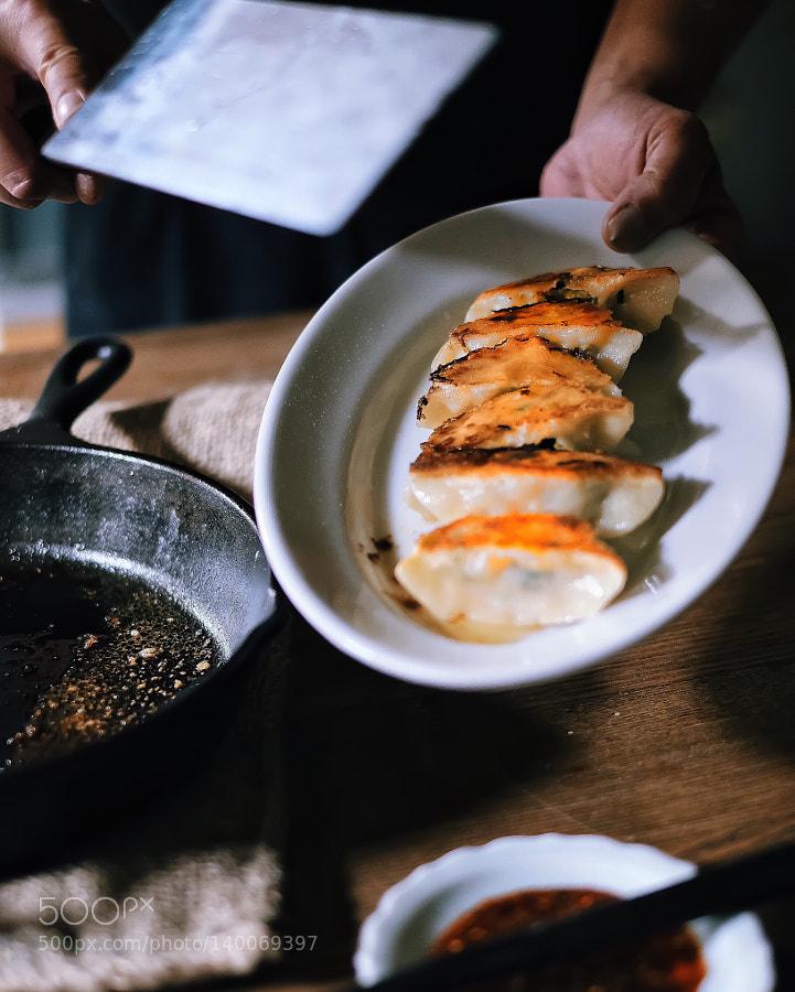 "Japanese ""Gyoza"", homemade dumplings"