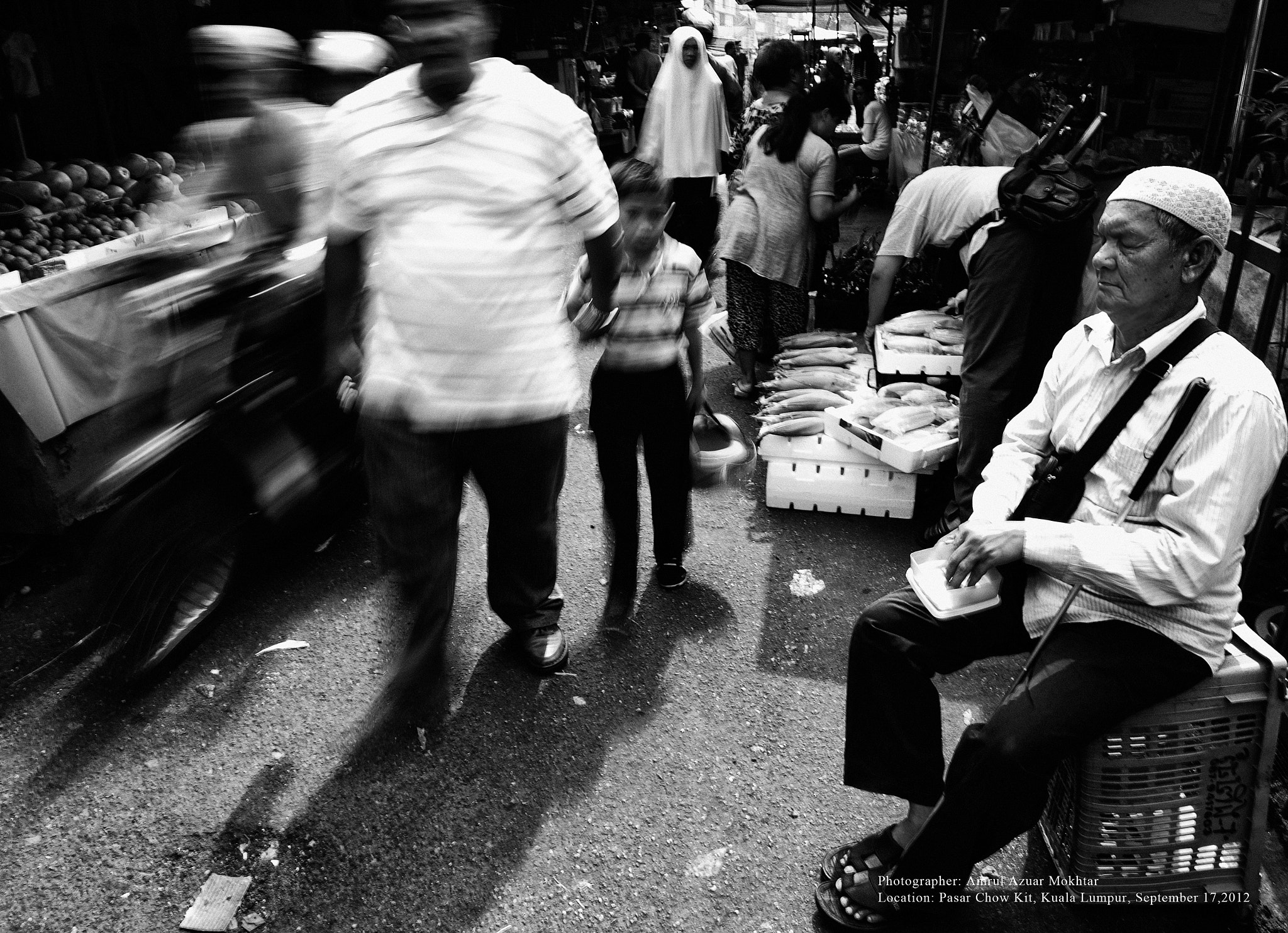 Photograph The faces of Jalan Chow Kit - A blind man by OPERAHIDUP PHOTOGRAPHY on 500px