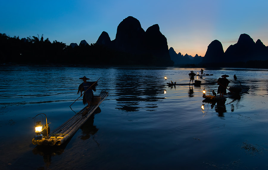 Photograph Fishing Boats n Lights by Jose Hamra on 500px