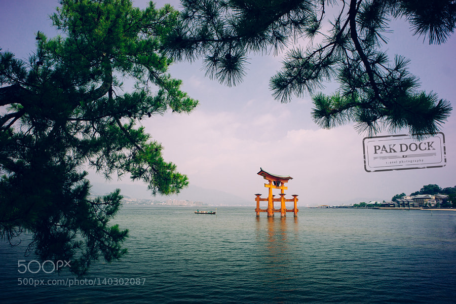 Boat under the Big Torii