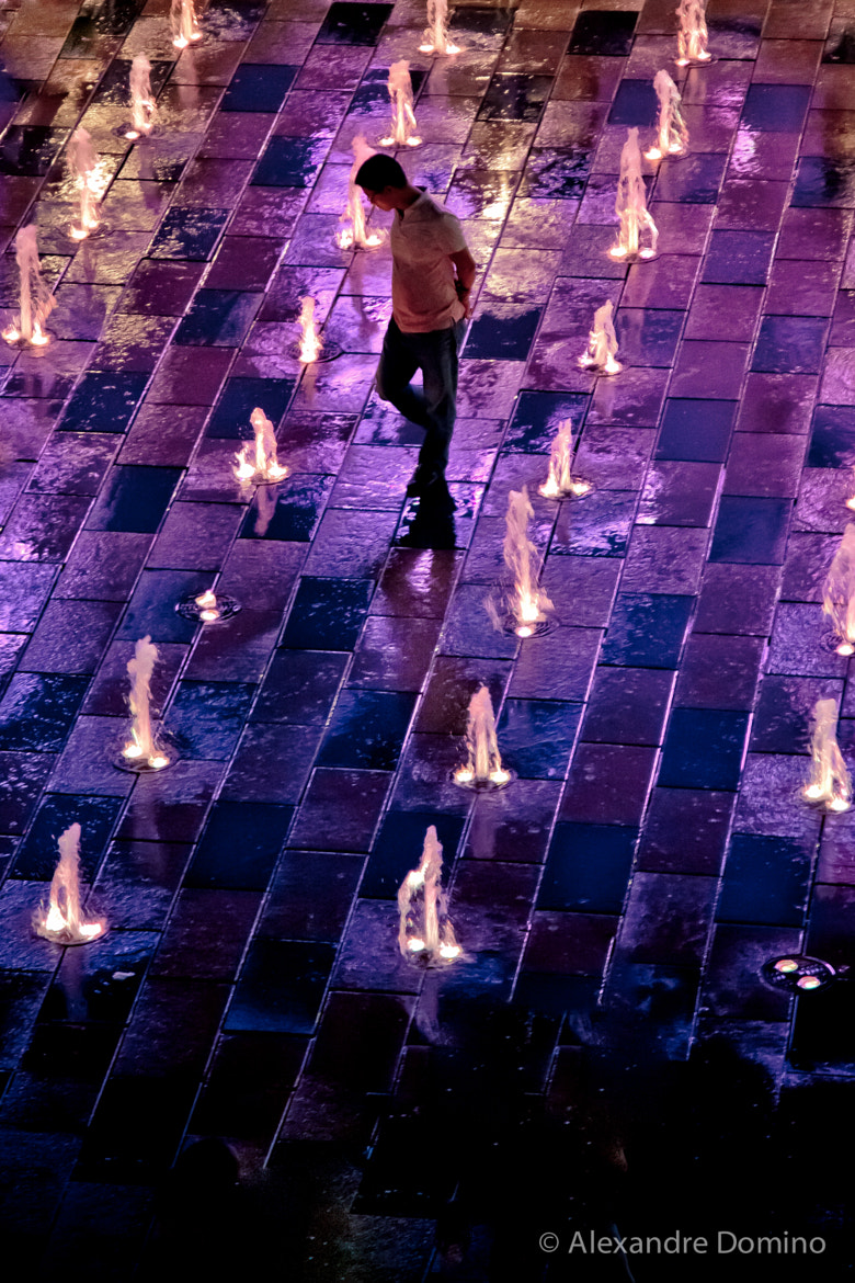 Photograph Walking through Fountains by Alex China on 500px