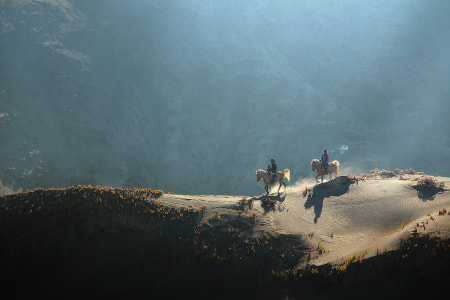 Riders Horse on The Hill by dewan irawan