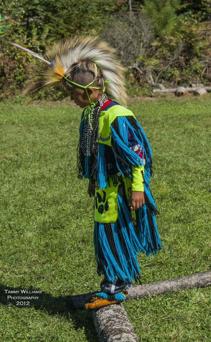 Photograph Gold River Powwow - Young Dancer with his first eagle feather by Tammy Williams on 500px