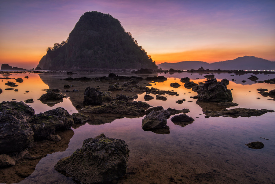 Dusk at Pulau Merah Beach by Kristianus Setyawan on 500px.com