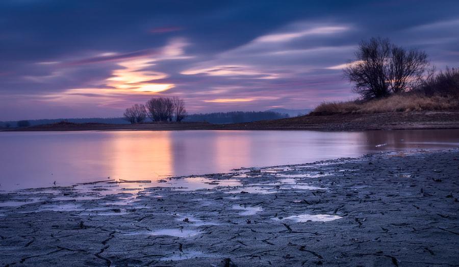 Still water before sunrise