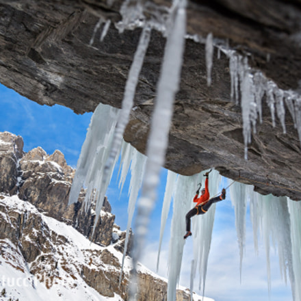 Ueli Steck at Uschenen dry tool and ice climbing