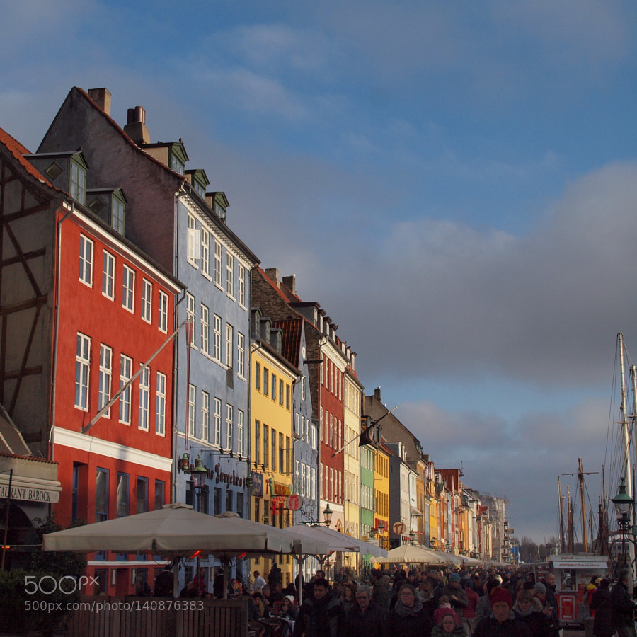 """Olympus E-30 sample photo. """"Nyhavnen a winter day"""" photography"""