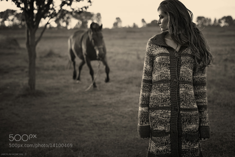 outdoor photo - Girl and Horse by Jaroslav Monchak