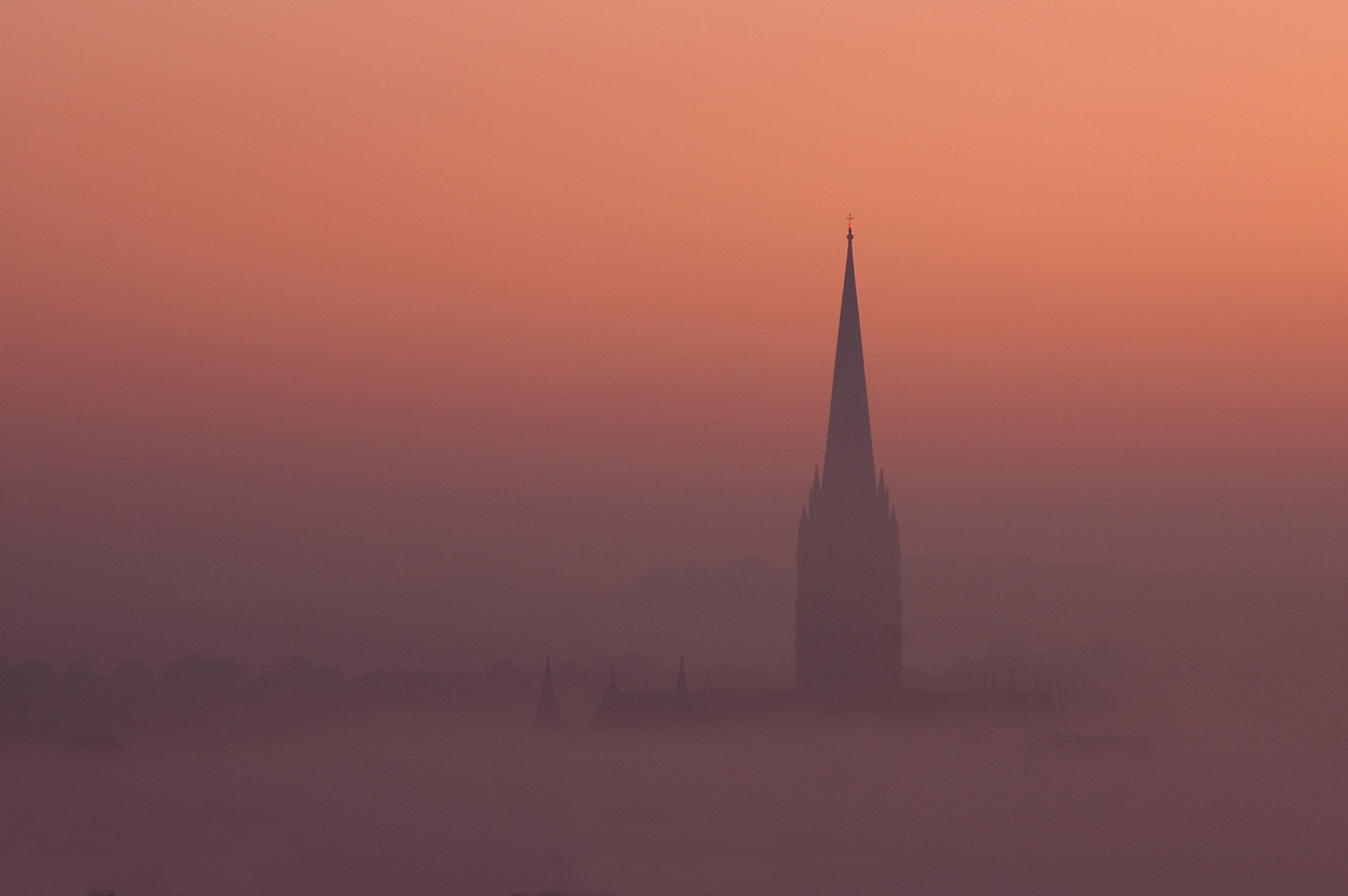 Photograph Salisbury Cathedral in the mist by Tony Oliver on 500px