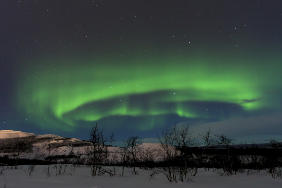Northen lights over Kiruna by Jef Wodniack on 500px.com