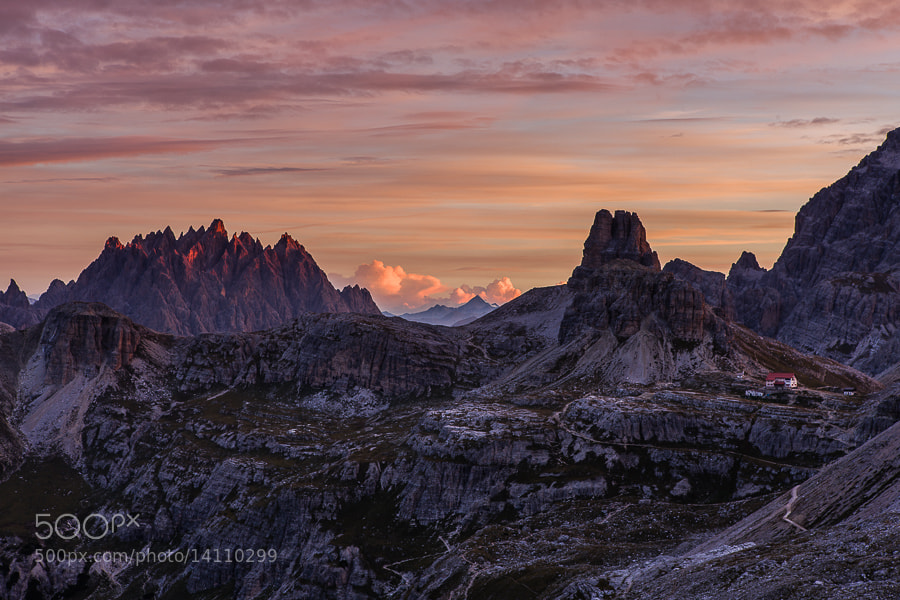 Photograph Tre Cime early morning by Hans Kruse on 500px