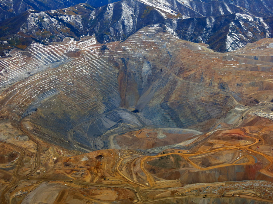 Bingham Copper Mine Salt Lake, автор — Christoph Egger на 500px.com