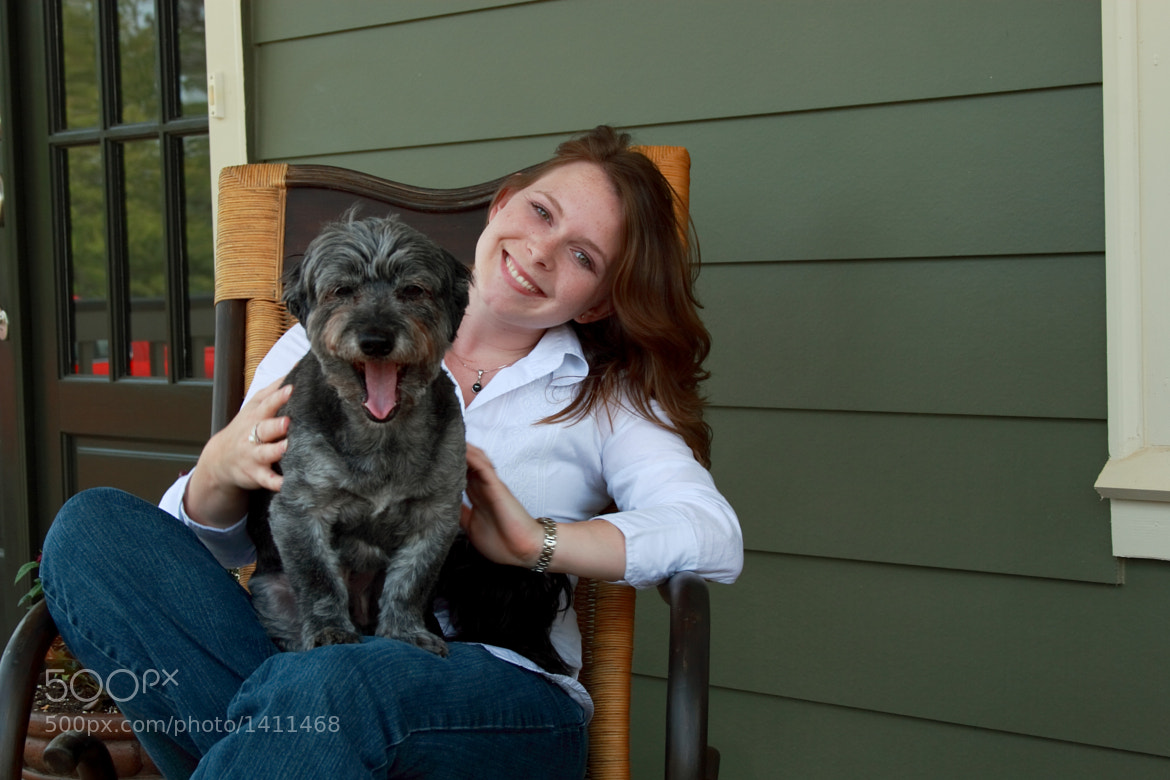 Photograph A girl and her dog. by Daniel Bentley on 500px