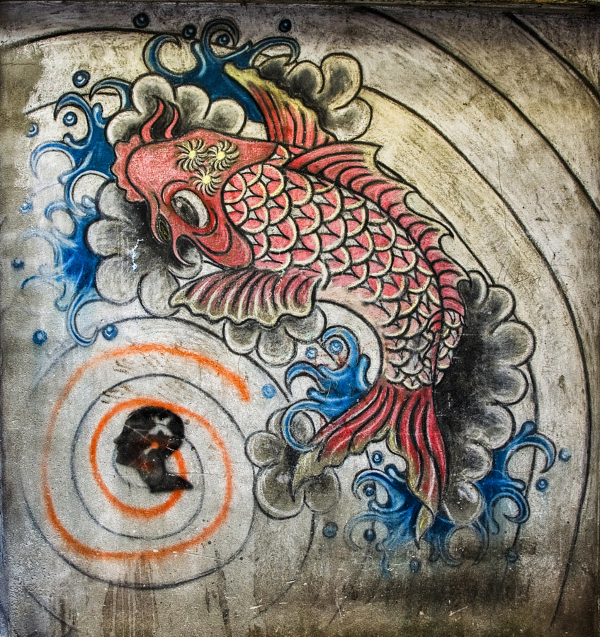 Fish graffiti 1