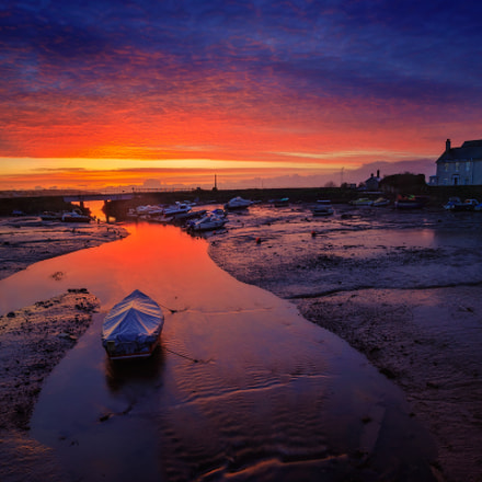 Low tide sunrise, Canon EOS-1DS, Sigma 17-35mm f/2.8-4 EX DG Aspherical HSM