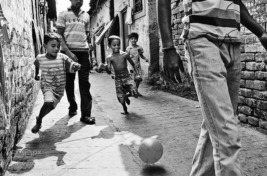 Photograph Gali Football by Saumalya Ghosh on 500px
