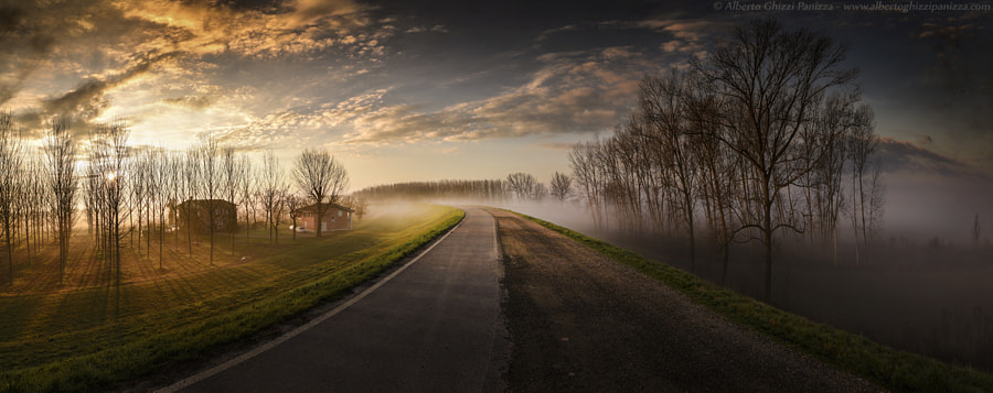 A road between light adn fog by Alberto Ghizzi Panizza on 500px.com