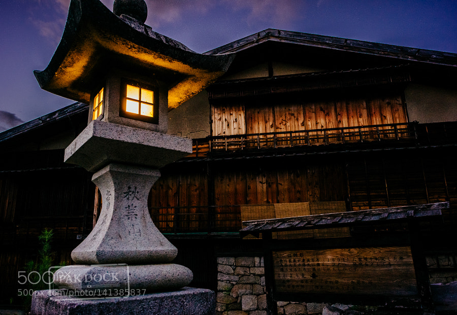 Last light in Tsumago - Kiso