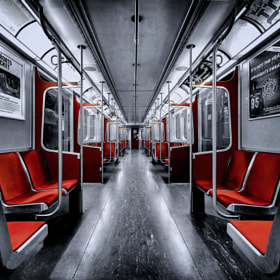 A Subway Car in Toronto