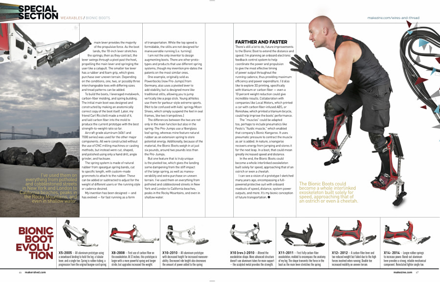 Make: Issue 43 - Bionic Boots