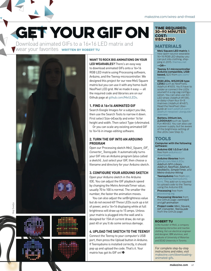 Make: Issue 43 - Animated Gif Dress