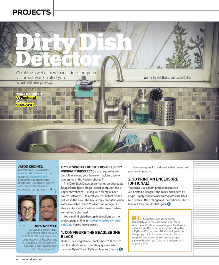 Make: Issue 43 - Dirty Dish Detector
