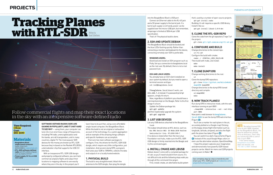Make: Issue 43 - Tracking Planes