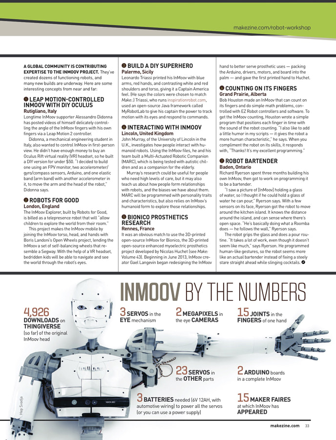 Make: Issue 45 - Inmoov by the Numbers
