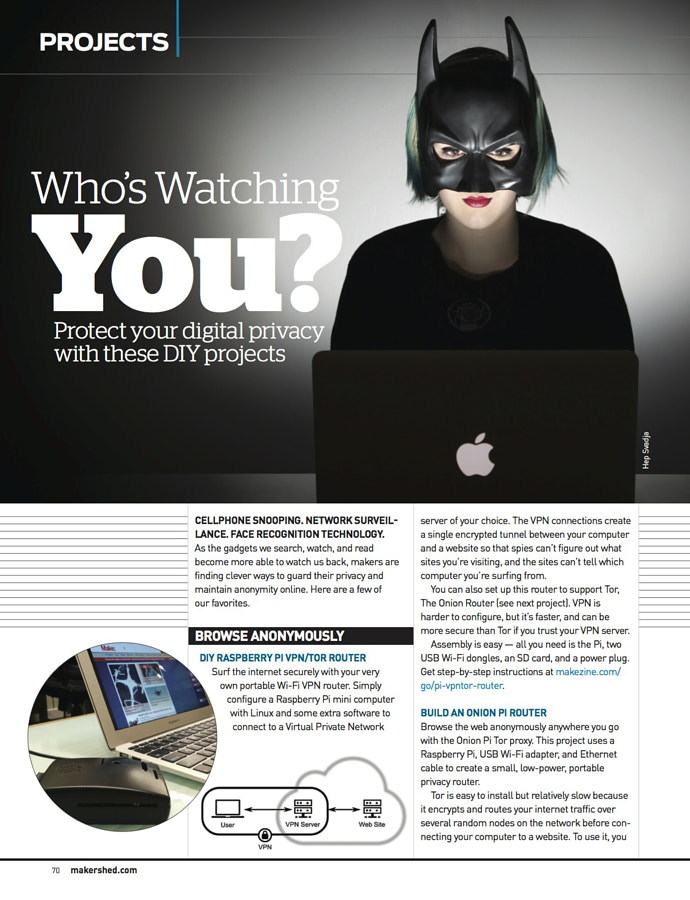 Make: Issue 45 - Anonymous VPN