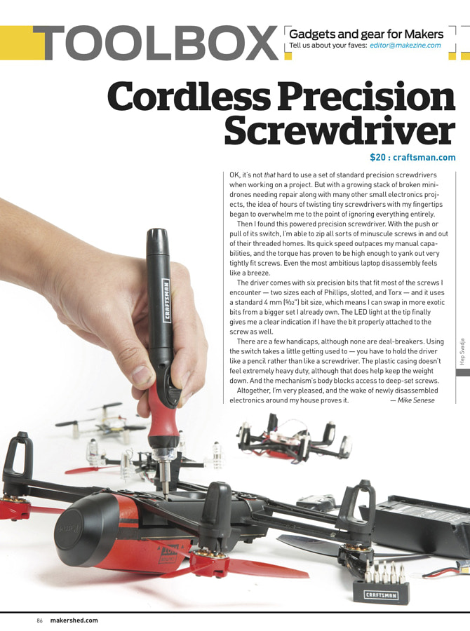 Make: Issue 47 - Toolbox Reviews