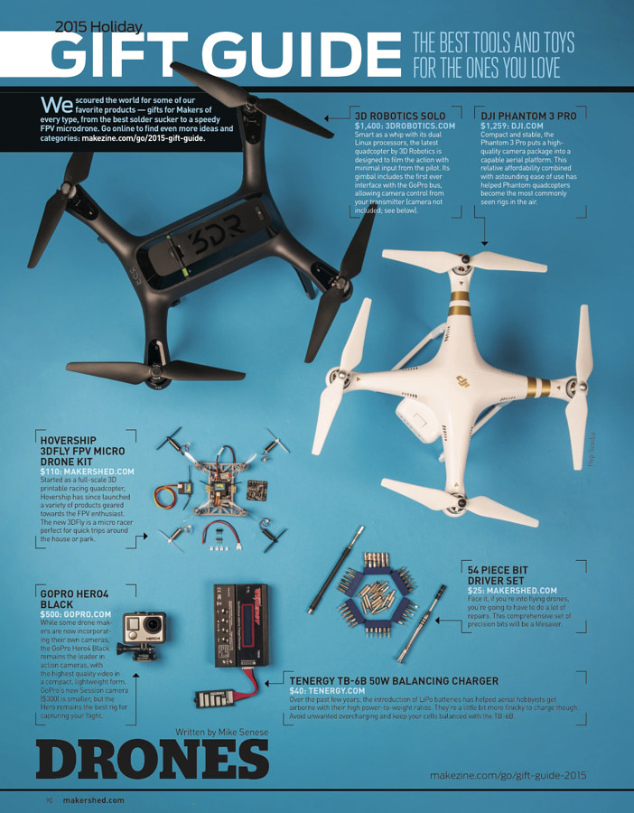 Make: Issue 49 Gift Guide: Drones