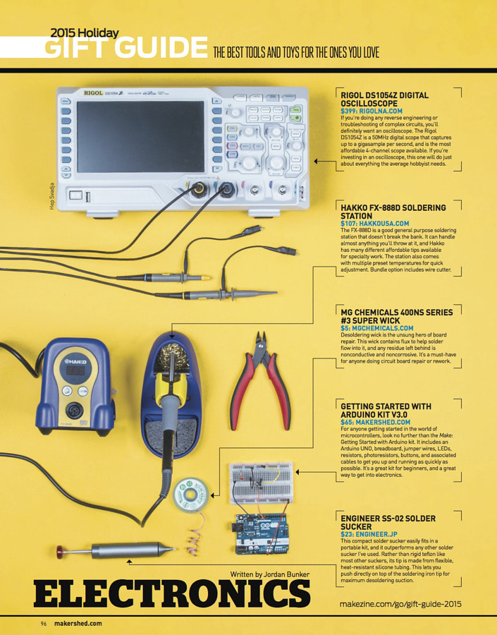 Make: Issue 49 Gift Guide: Electronics