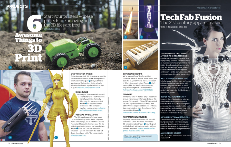 Make: Issue 49 - 6 Things to 3D Print