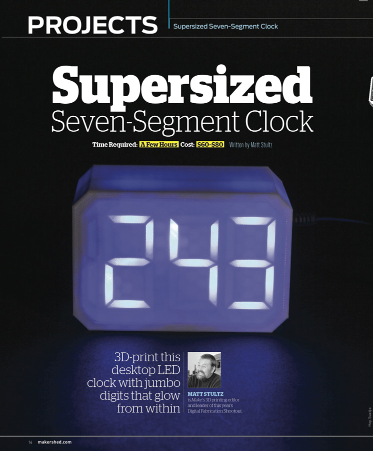 Make: Issue 49 - 3D Printed Clock