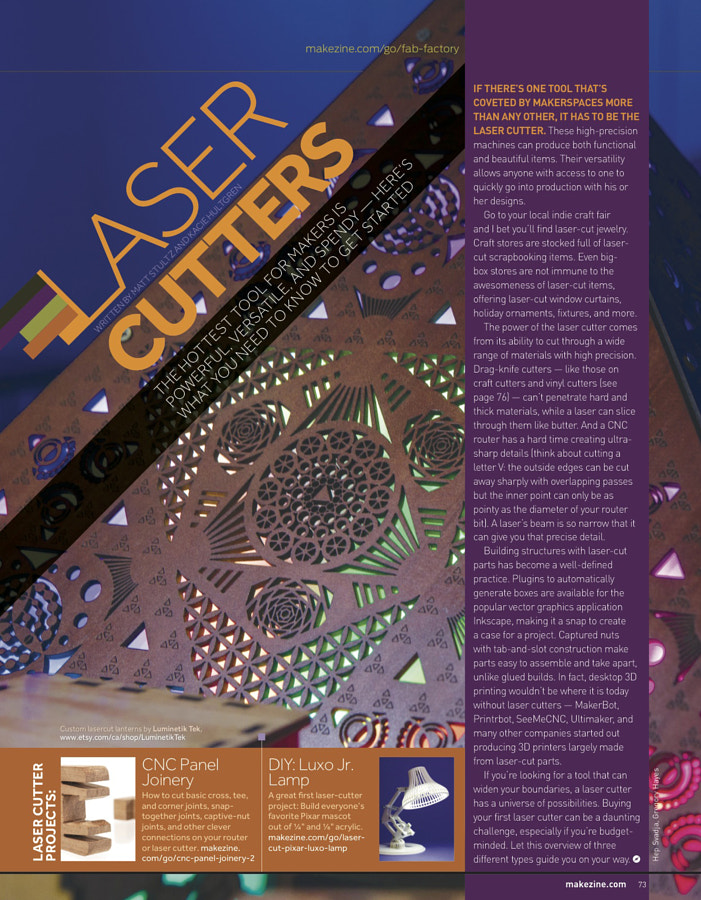 Make: Issue 49 - Laser Cutters Opener
