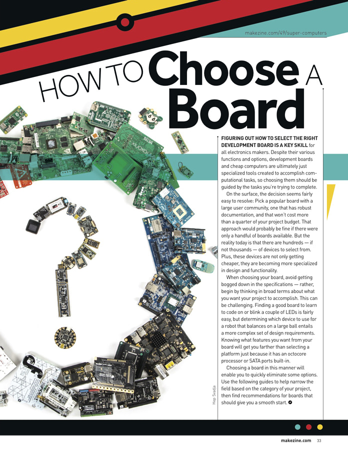 Make: Issue 49 - How to Choose a Board