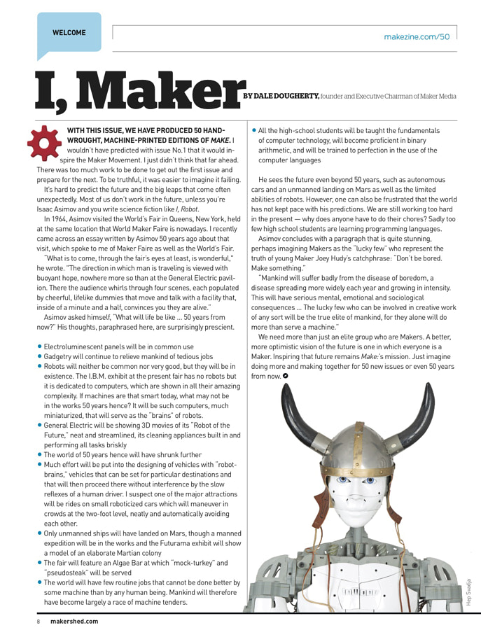 Make: Issue 50 - Welcome