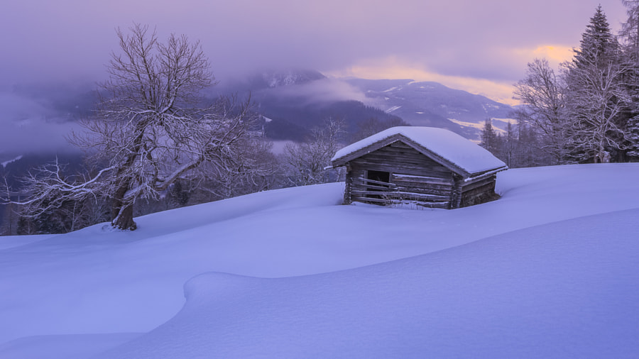 Snowy landscape in the austrian alps by Stefan  Prech on 500px.com