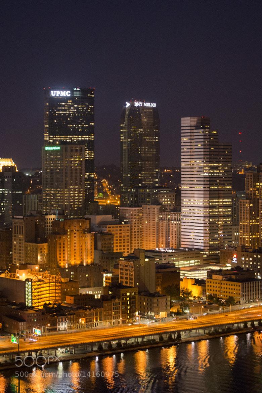 Photograph Pittsburgh night lights by Taniya Varshney on 500px