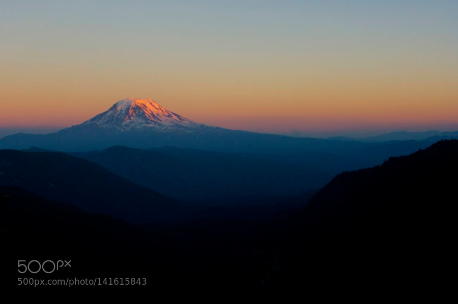 Mt. Adams Sunset, Canon EOS DIGITAL REBEL XTI, Canon EF 28mm f/1.8 USM