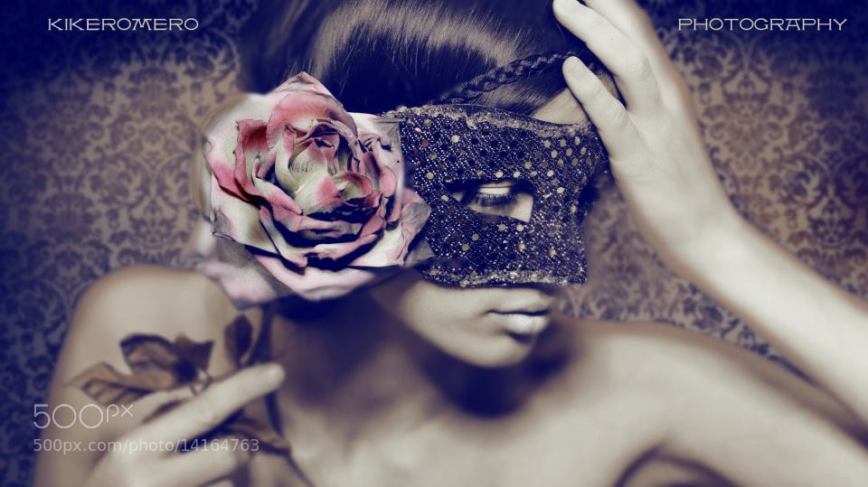 Photograph Mask_& Rose by Kike Romero on 500px