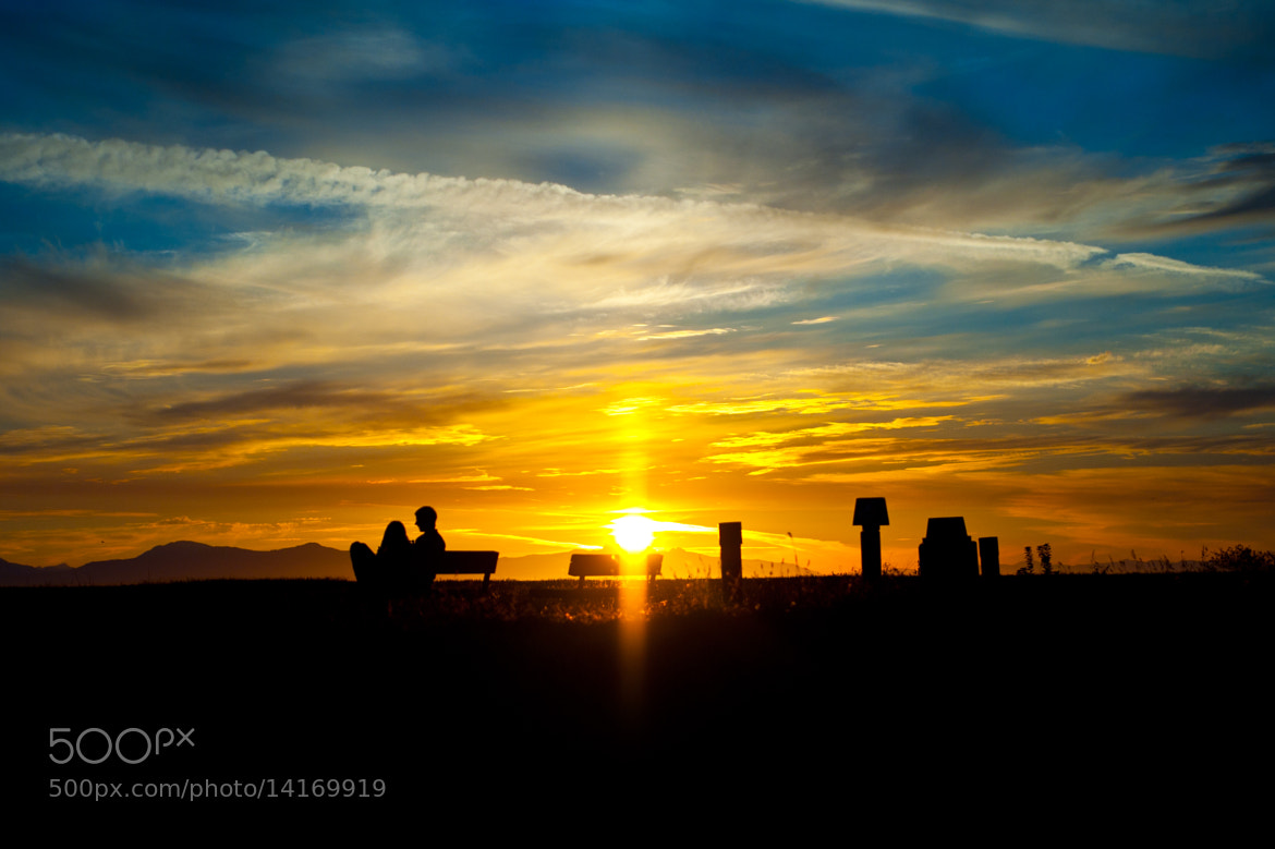 Photograph Sunset Couple by Daniel Wong on 500px
